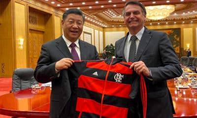 moletom flamengo de bolsonaro para presidente da china
