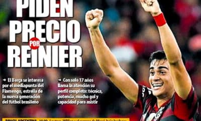 capa jornal espanhol reinier no barcelona