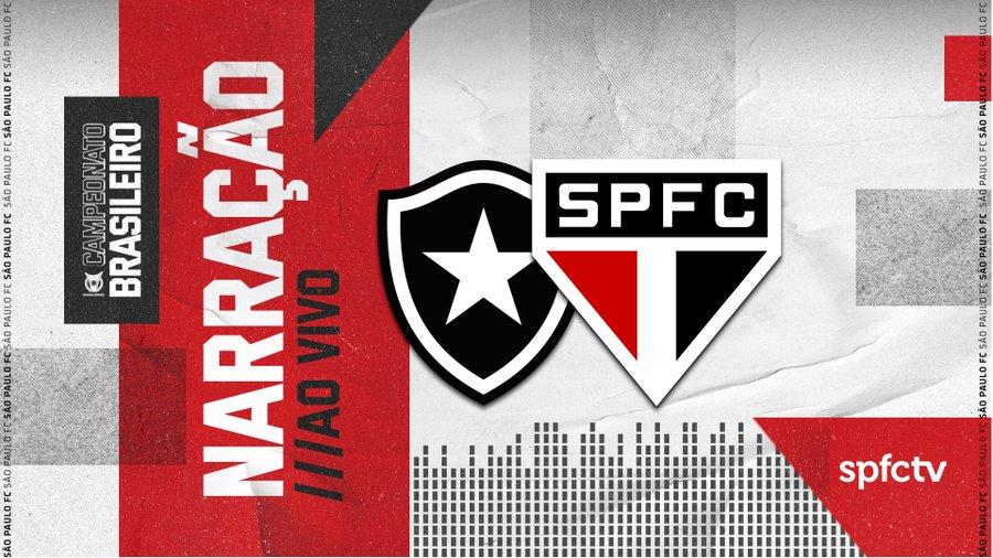 Botafogo x São Paulo ao vivo hoje 2202