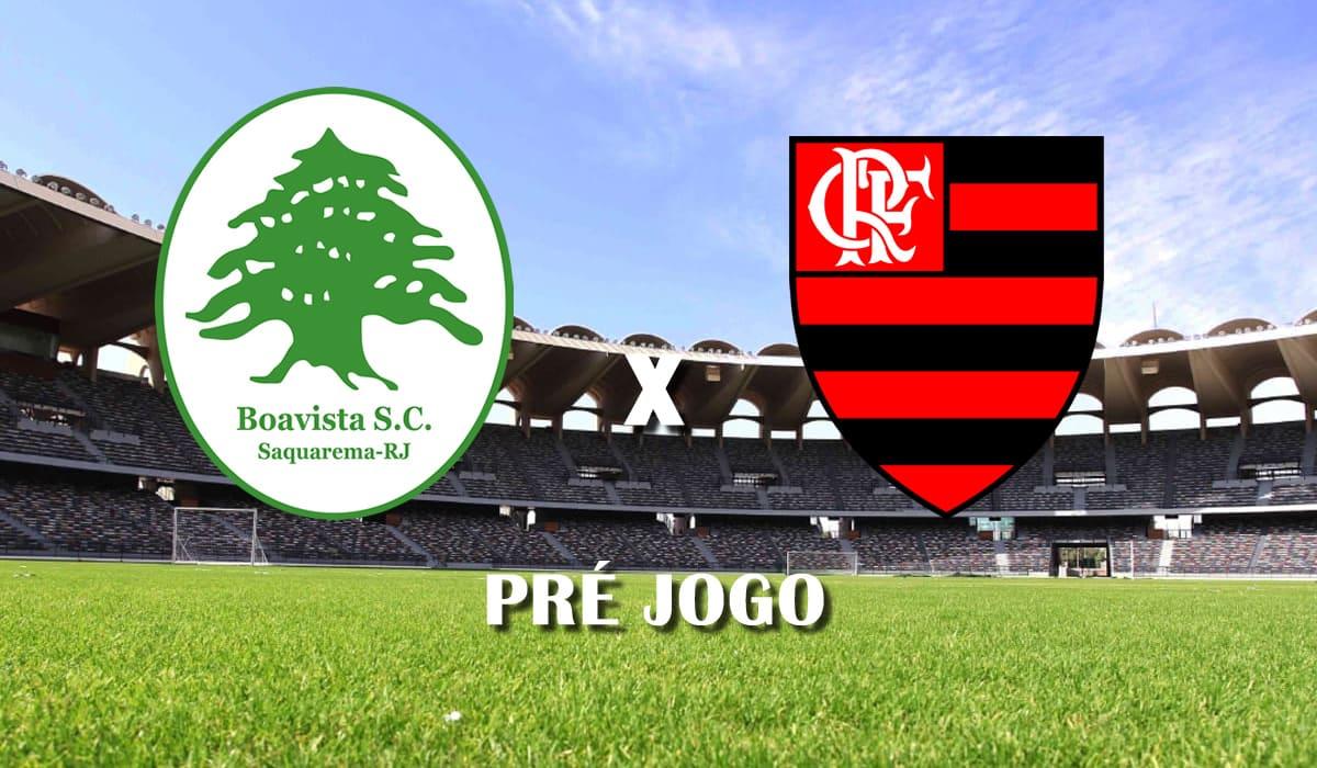 boa vista x flamengo campeonato carioca cariocao sexta rodada pre jogo