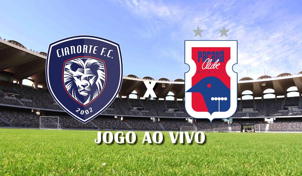 cianorte x parana clube copa do brasil 2021 primeira fase jogo ao vivo