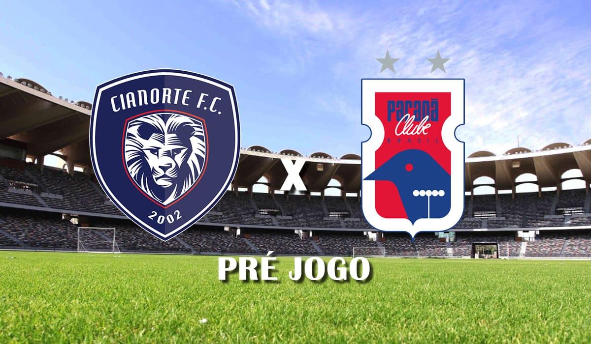 cianorte x parana clube copa do brasil 2021 primeira fase pre jogo