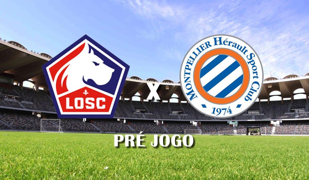 Lille x Montpellier campeonato frances ligue 1 33 rodada pre jogo