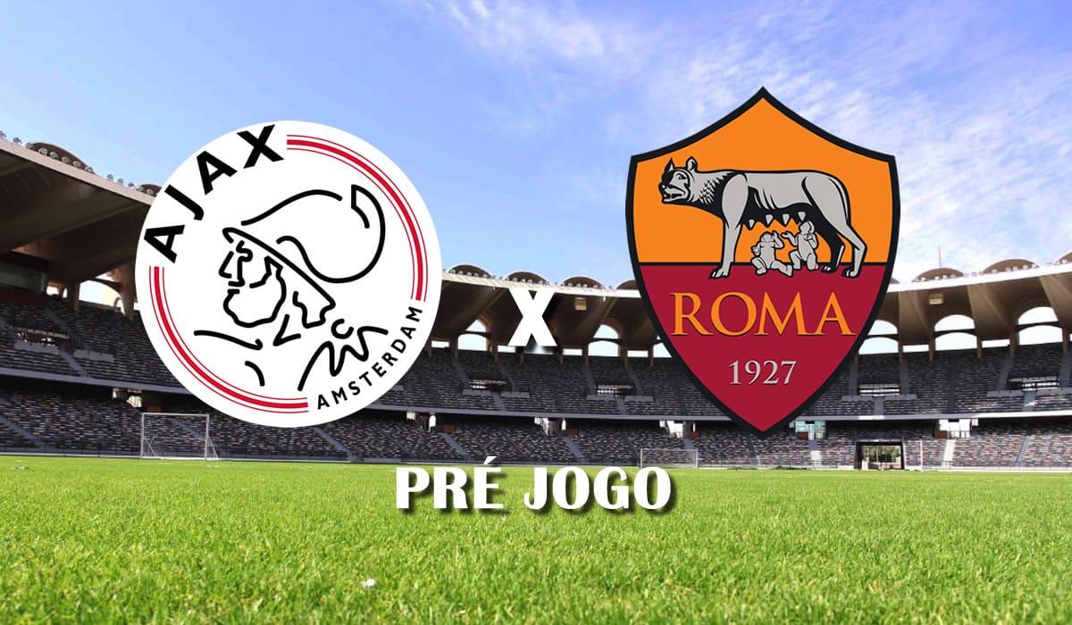 ajax x roma europa league 2021 quartas de final jogo de ida pre jogo