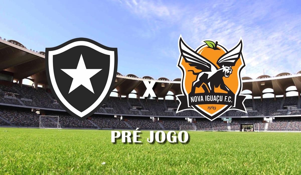 botafogo x nova iguacu taca rio 2021 primeiro jogo semifinais campeonato carioca pre jogo