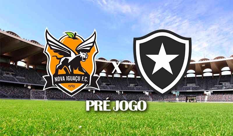 nova-iguacu-x-botafogo-segundo-jogo-semifinal-taca-rio-2021-pre-jogo