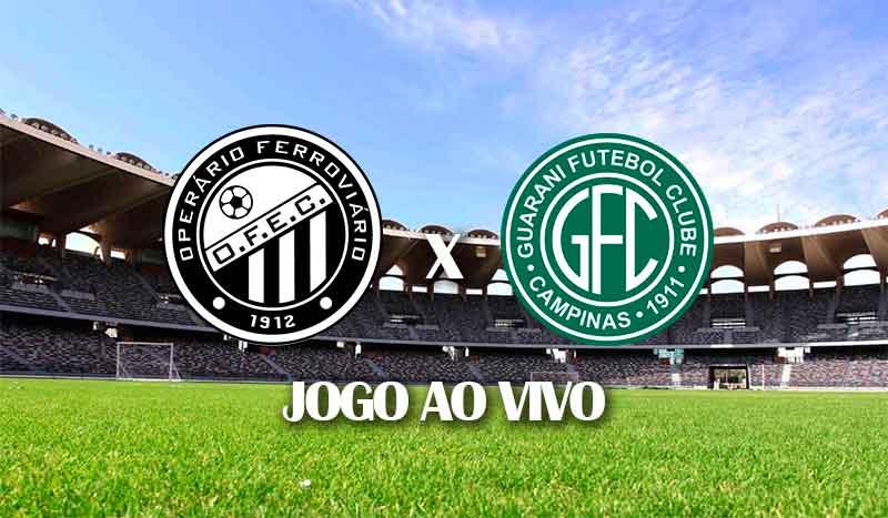 operario x guarani segunda rodada campeonato brasileiro 2021 serie b brasileirao segunda divisao jogo ao vivo