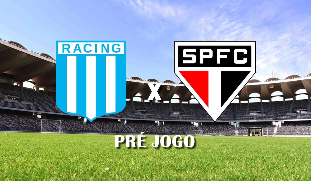 racing club x sao paulo copa libertadores da america 2021 terceira rodada grupo e pre jogo