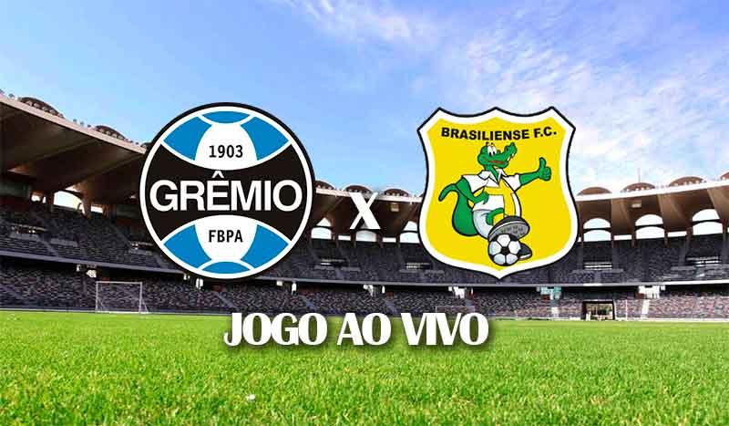 gremio x brasiliense copa do brasil 2021 terceira fase jogo de ida jogo ao vivo