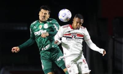 Etapa inicial do clássico paulista termina sem gols. São Paulo tem dois lances oportunos de gols anulados por arbitragem