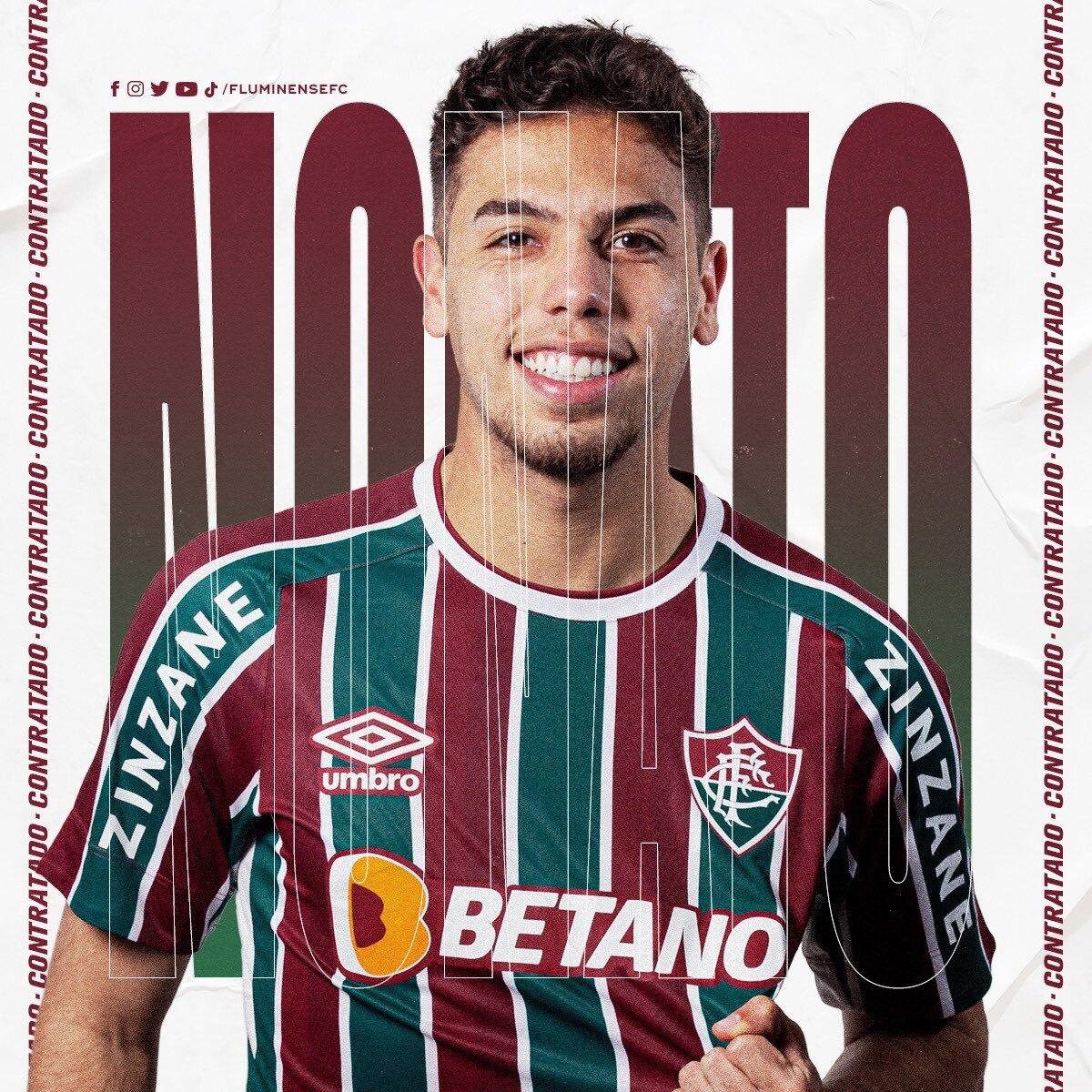 Volante do Inter, Nonato, assinou com o Flu até o fim de 2022. Nas Laranjeiras, Martinelli e Yago tem sido titulares na posição