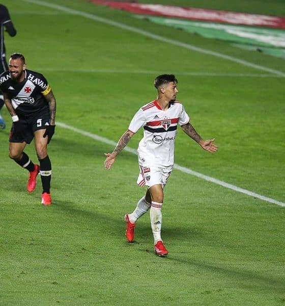 Em três oportunidades, o São Paulo eliminou o Vasco nas quartas de final do torneio. Em sete encontros na competição, foram três triunfos