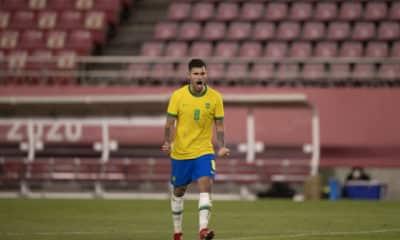 Aos 23 anos e com passagem pela seleção principal, volante Bruno Guimarães foi capitão no Pré-Olímpico e titular em todo os jogos no Japão