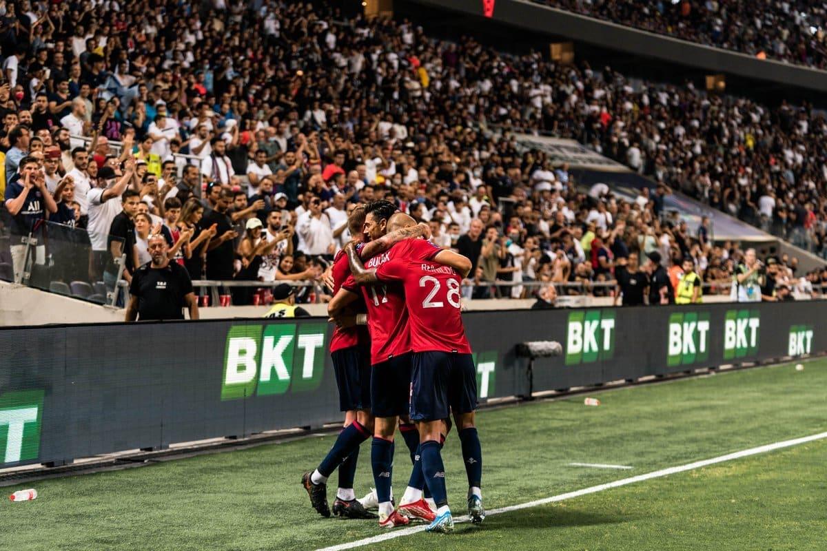 Lille bate Paris Saint-Germain por 1 a 0 na decisão da Supercopa da França. PSG vinha de oito títulos consecutivos na competição