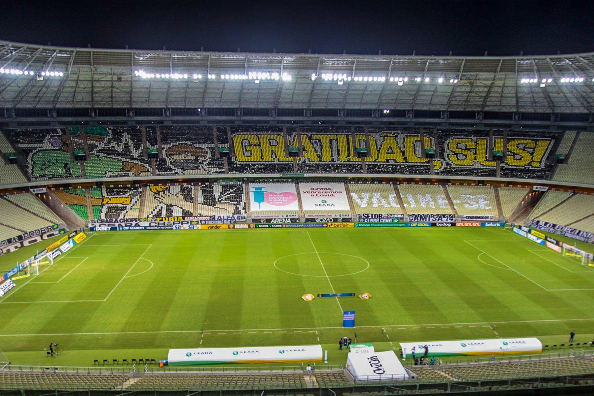 Com objetivos divergentes, Ceará e Palmeiras se enfrentam na noite desta quarta-feira (20), às 19h, na Arena Castelão, em Fortaleza (CE)